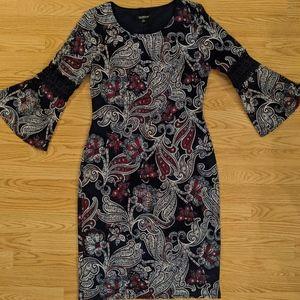 Paisley Pattern Casual Dress